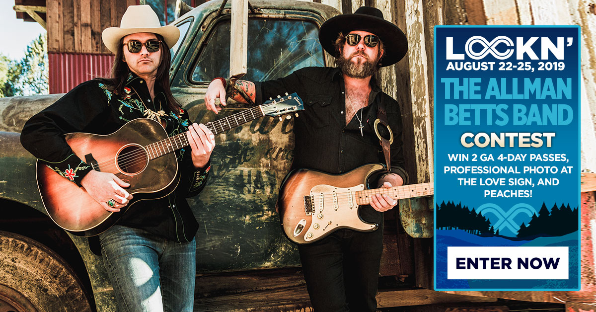Allman Betts Band's Giving Away Two 4-Day GA Passes, Photo at LOVE Sign + Peaches at LOCKN' Festival!
