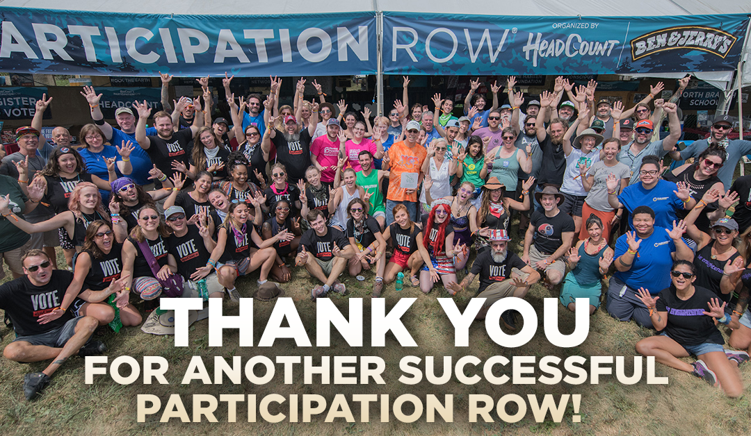 HeadCount's 2019 Participation Row Raised Over $30,000 in Charitable Donations