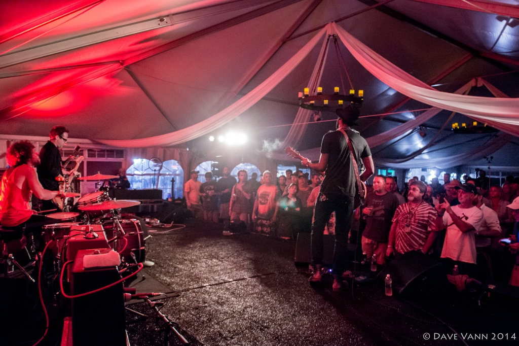 Gary Clark Jr. in the VIP Tent 9/6/14 - Lockn' Music Festival - Oak Ridge Farm, Arrington VA - Photo © Dave Vann 2014