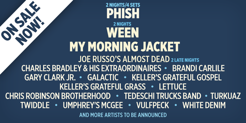 Phish, Ween, My Morning Jacket to Headline 2016 LOCKN' Festival