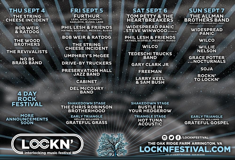 Lockn festival schedule