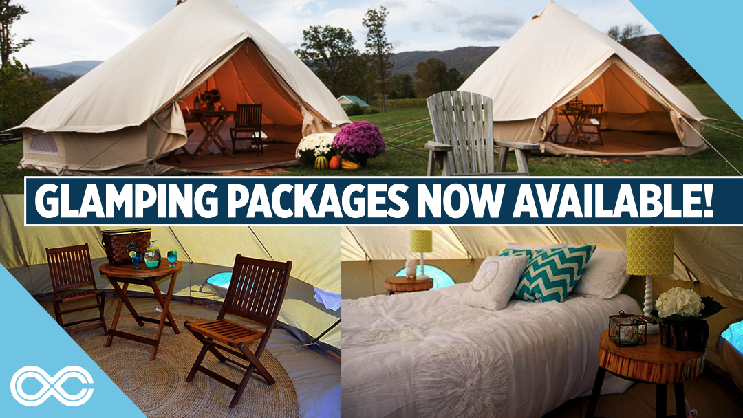Glamping is on sale now! Elevate your camping experience at LOCKN'