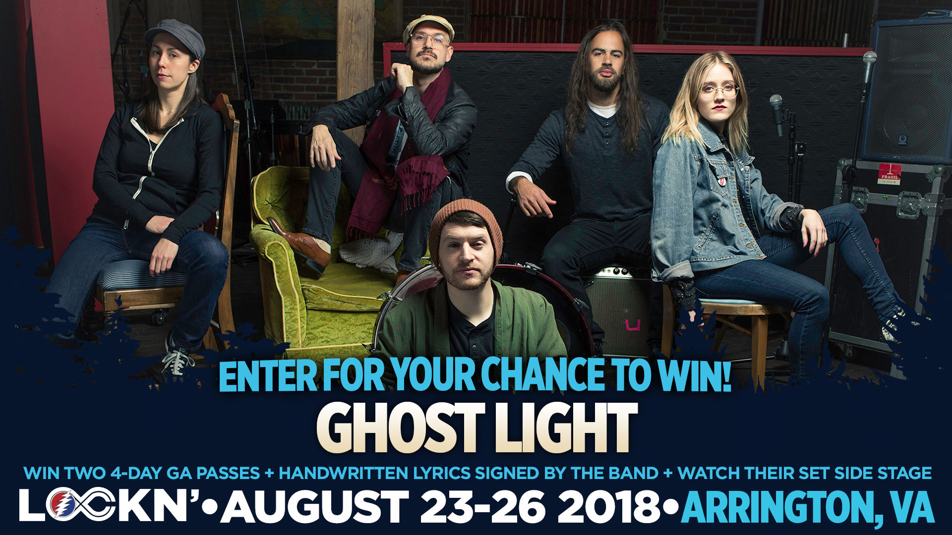 Win Two 4-Day GA Passes to LOCKN' Festival + Handwritten Lyrics Signed By Band + Watch Their Set Side Stage!