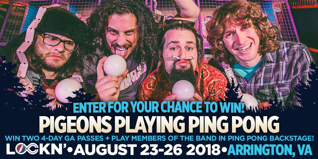 Win Two 4-Day GA Passes to LOCKN' Festival +Play Members of the Band In Ping Pong Backstage!