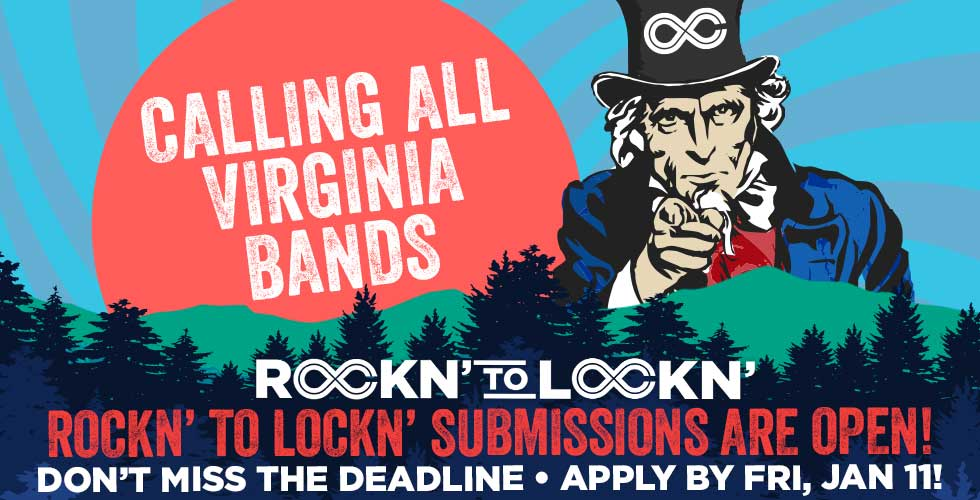 ROCKN' TO LOCKN' is back! Submit Your Virginia Band to Play at LOCKN' 2019