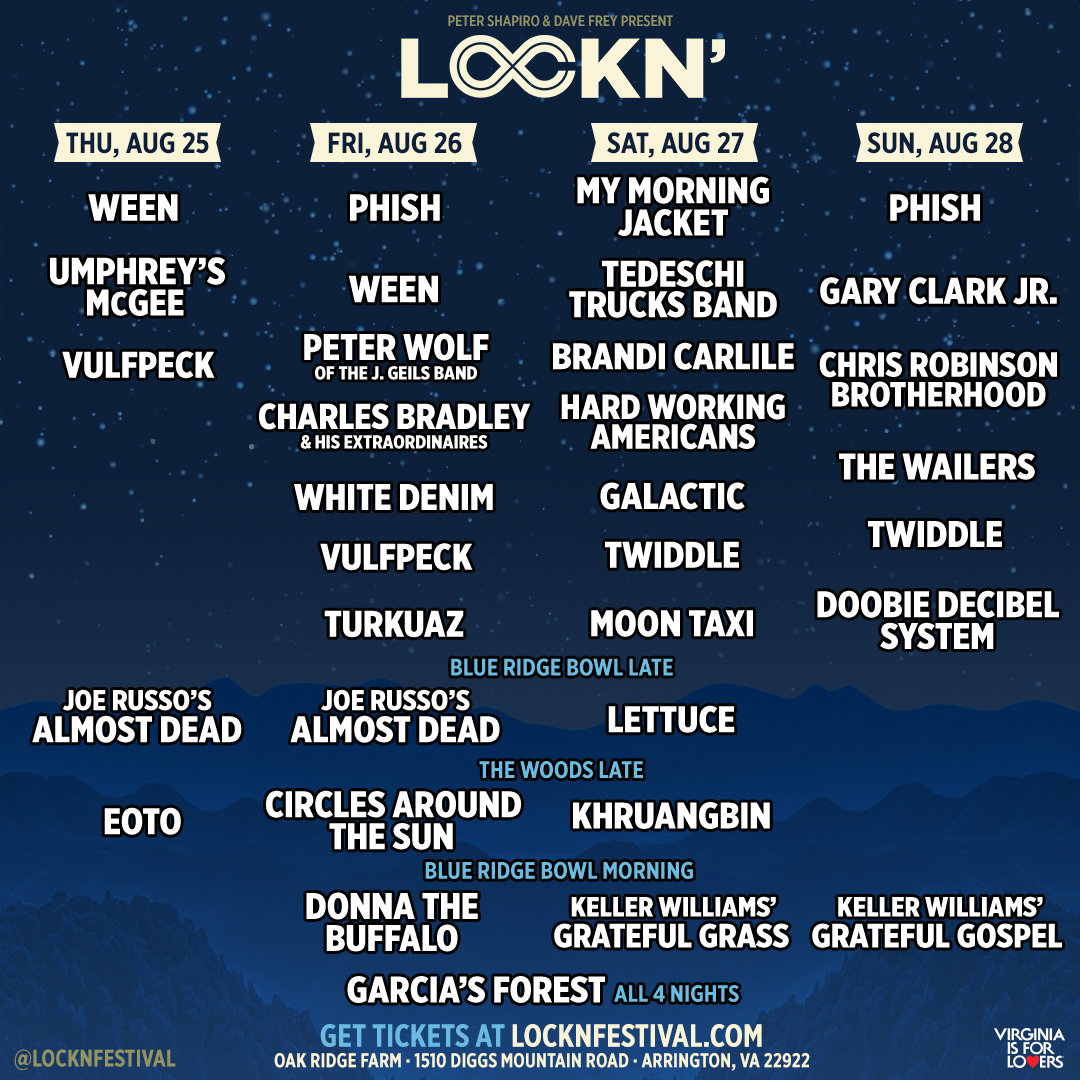 LOCKN' 2016 Daily Schedule
